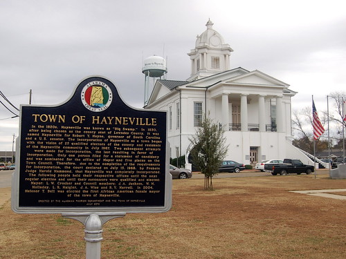 Town of Hayneville sign