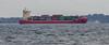 Container ship Frederik in Öresund this afternoon