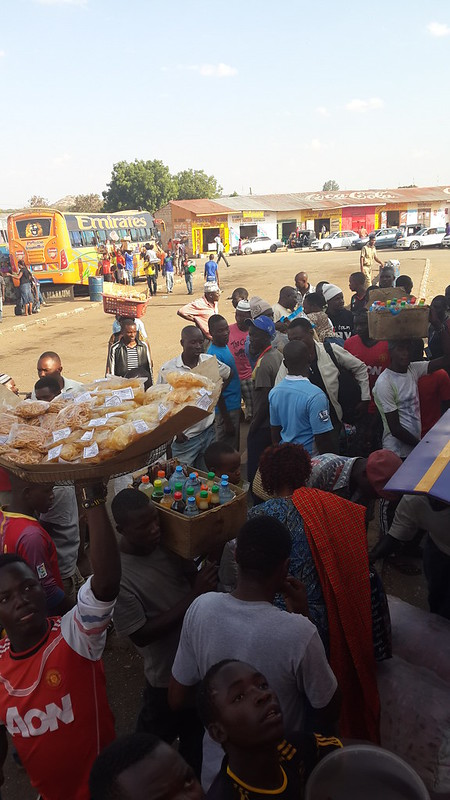 Bus station food sellers