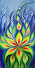 Fire of life fluorescent painting -Focul vietii pictura fluorescenta