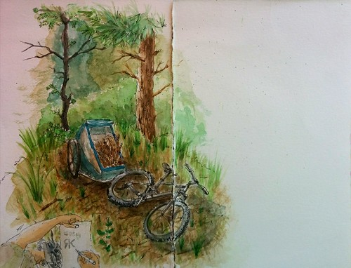Sketching at forest..
