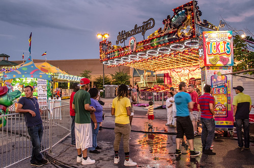 carnival blue atlanta sunset red summer usa green colors yellow contrast reflections dark georgia puddle tickets lights evening twilight lowlight nikon ride nightshot unitedstates dusk south roswell wideangle southern adobe rides himalaya midway amusements goldenhour lightroom peachtreerides d7000 stgrundy