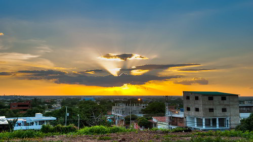 sunset sol atardecer nikon venezuela valle puesta hdr guárico d3000