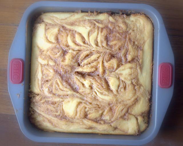 iced cinnamon swirl cake