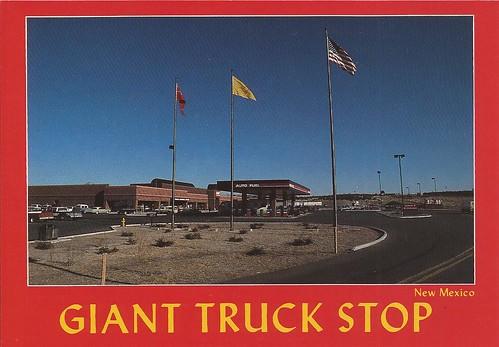 newmexico route66 postcard truckstop gallup jamestown i40 us66 travelcenter gianttravelcenter gianttruckstop