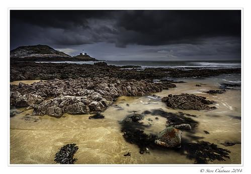uk sea sky storm wales rocks waves mumbles lightroom stevechatman