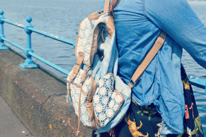 summer back pack new look sea