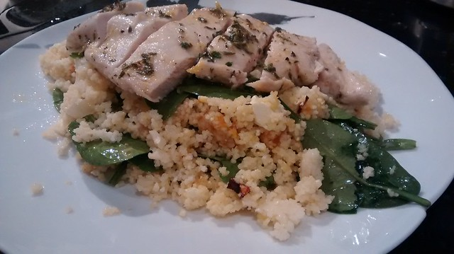 Lemon Thyme Chicken with Pumpkin and Feta Couscous
