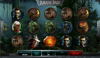Jurassic Park slot game online review
