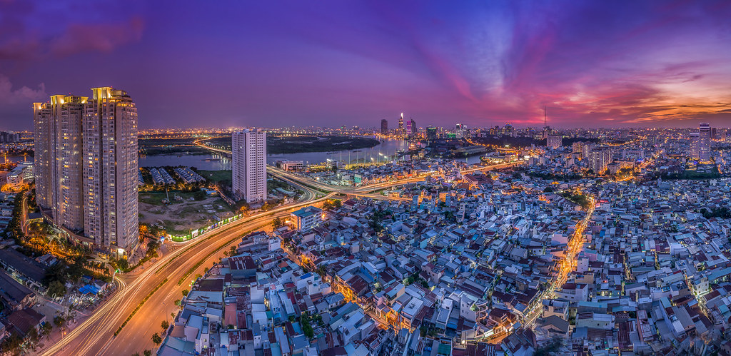 Saigon in another sunset