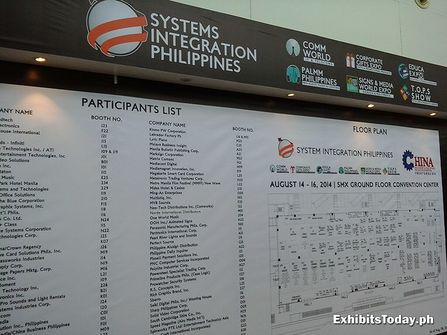 Systems Integration Philippines 2014 Exhibitors List