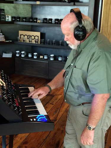 Tom at Moog Store