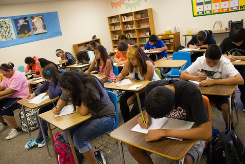 Students in the classroom on the first day of school - Back to School - 2014