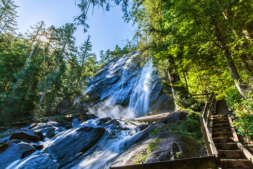 trees stairs waterfall steps boardwalk bridalveilfalls sunstar bridalveilcreek
