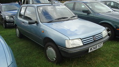 automobile, peugeot, vehicle, city car, peugeot 205, land vehicle, hatchback,