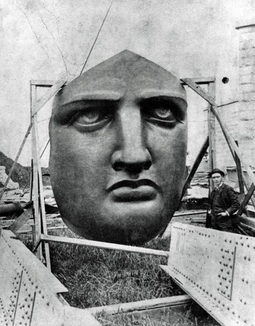 Statue of Liberty under construction  (1/14)