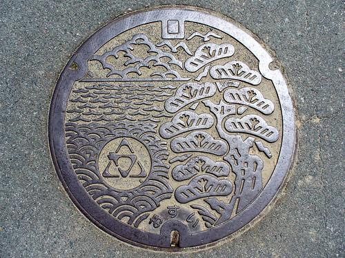 Karasu Mie, manhole cover (三重県香良洲町のマンホール)