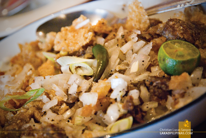 Sisig at Café Uno in Vigan City