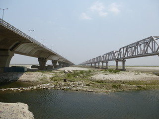 The NH57 bridge across the Kosi