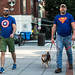 Superman and Captain America Walking Krypto