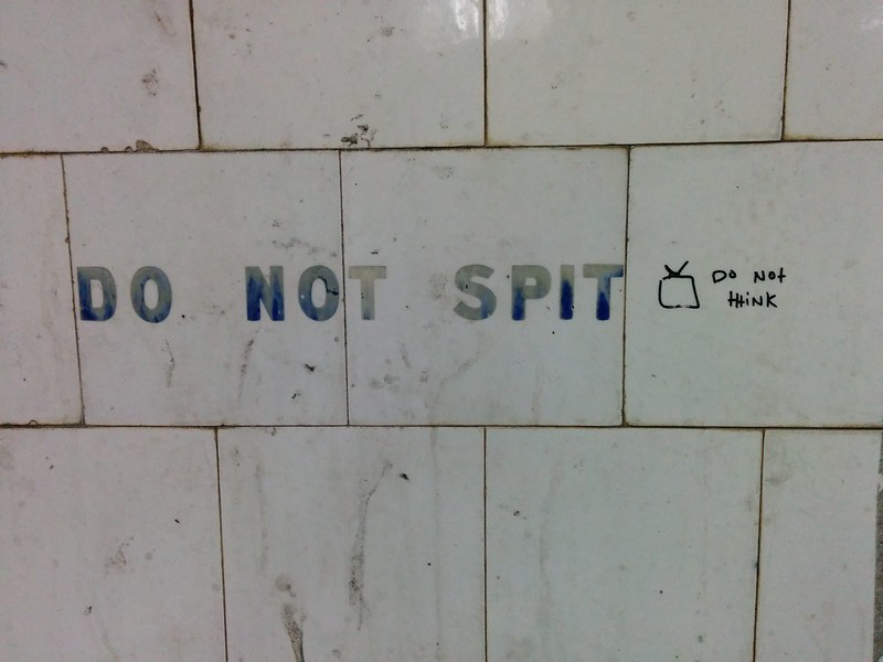 Do not spit