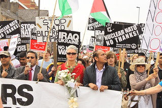protest march against NATO 2014