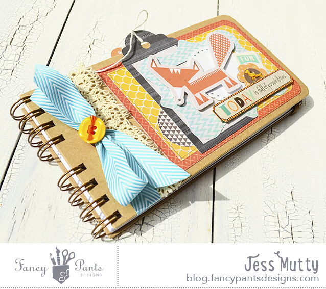 Foxy Notebook cover_Jess Mutty_Fancy Pants Designs