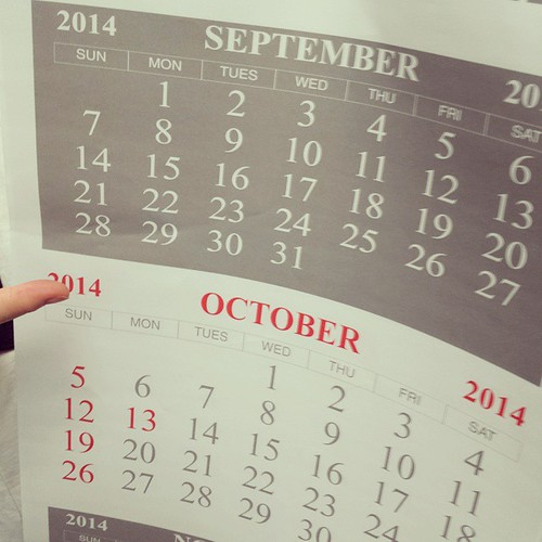 You had one job. How many days in September? #calendar