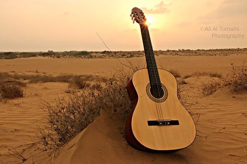 sunset music sun canon desert guitar saudiarabia غروب ذكريات صحراء كانون موسيقى memoreis قيتار efs1585mmf3556 الطمحة الطميحي