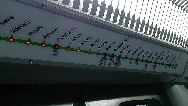 バルセロナの地下鉄事情