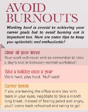 Avoid burnouts