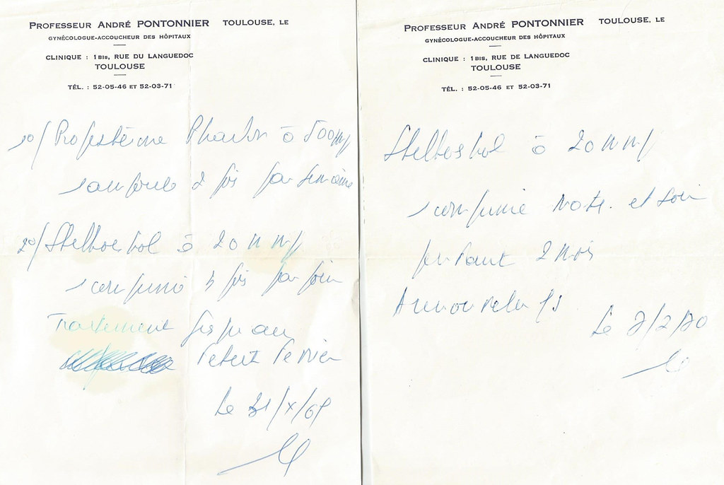 Ordonnances Stilboestrol 1967-1970 [Flickr]