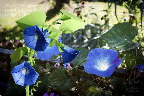 Origami Flower Garden. Morning Glory