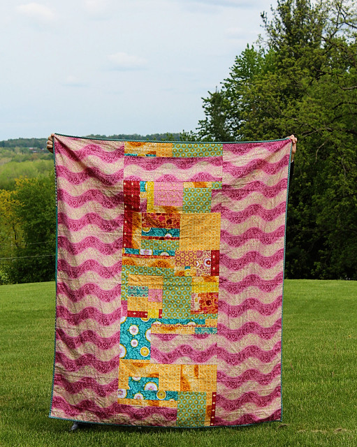 Flannel Economy Block Quilt Back