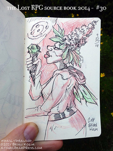 09-25-2014 #dailydrawing #lostRPG crystal flower fairy
