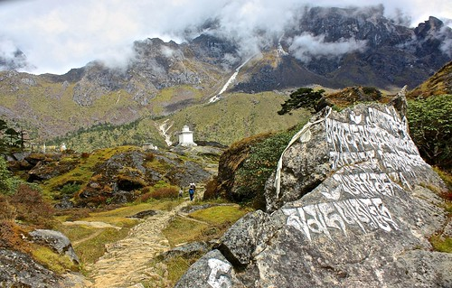 Mantras and a Gompa on our day hike above Namche Baazar