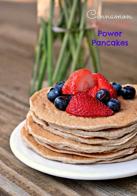 Cinnamon Whole Grain Power Pancakes 1