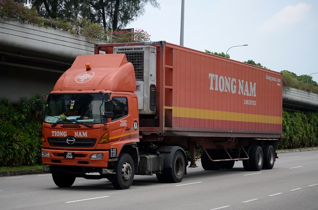 Tiong Nam Logistics Hino 500 Series SG Refrigerated Container Truck