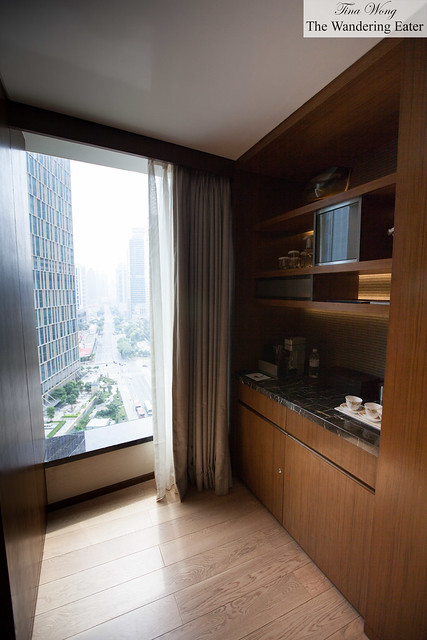 Pantry/closet area in the Harbour City Suite