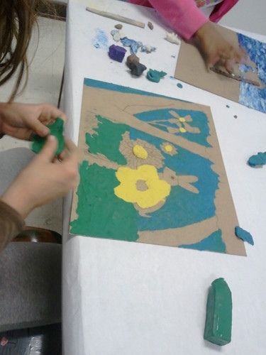 Painting with clay