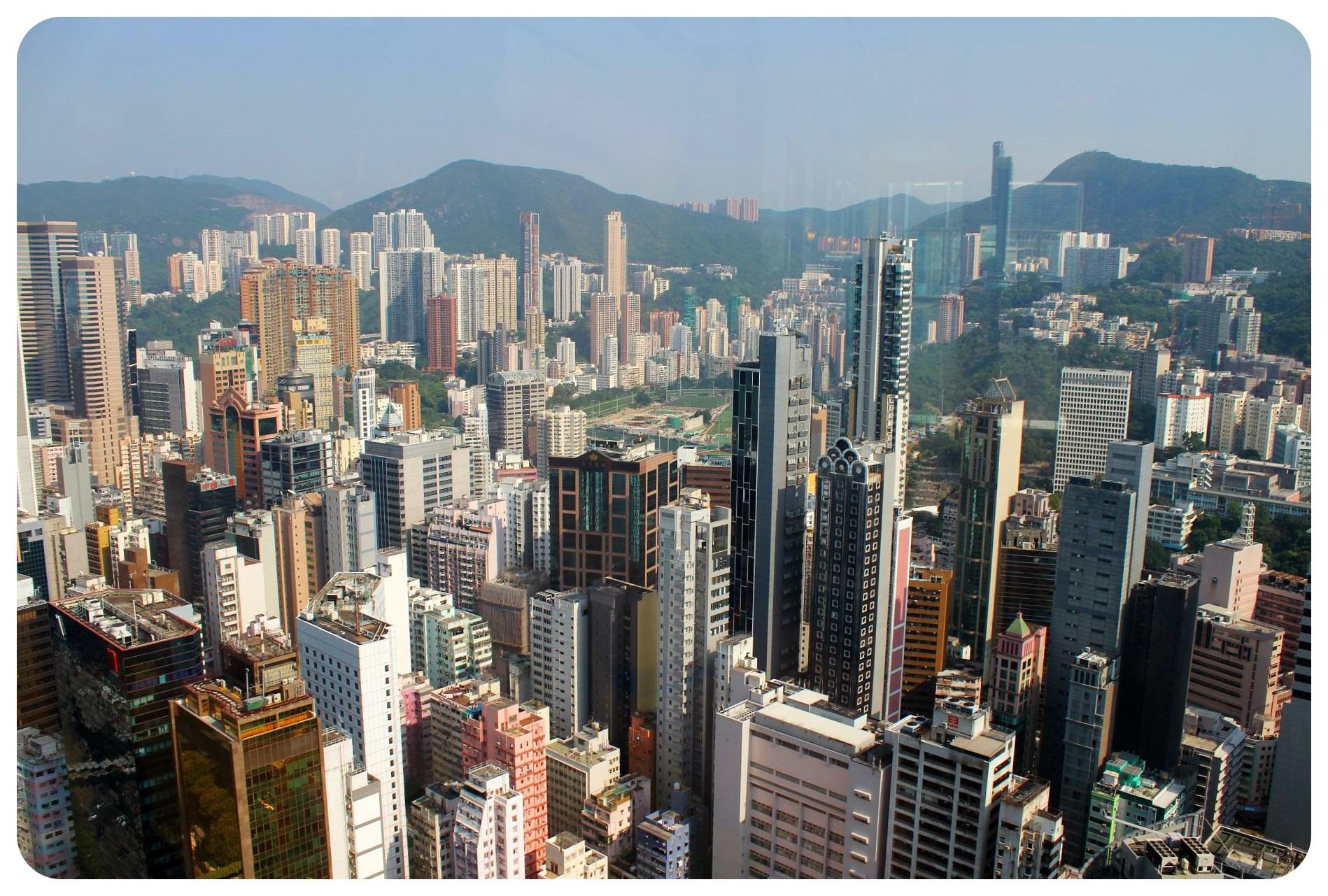 hong kong island skyscrapers