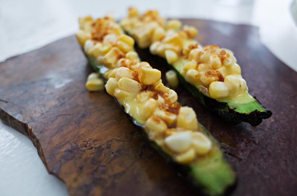 corn, zucchini, uni bottagra @qui