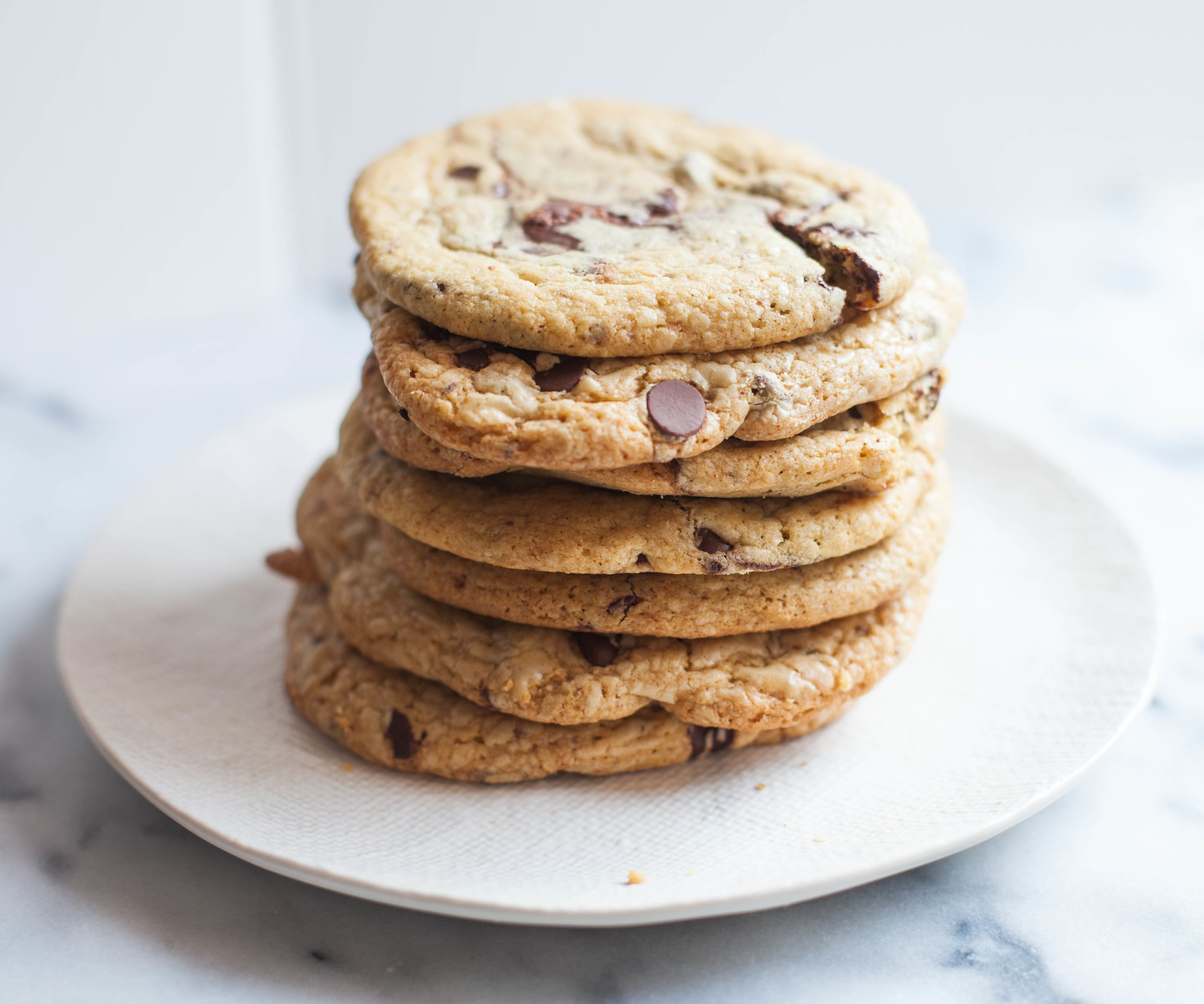the perfect chocolate chip cookie + a novel update | love.life.eat