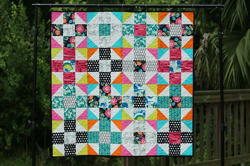 Jungle Ave Mod Nine Patch quilt