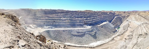 Panoramic Open pit of the Rio Tinto Rössing uranium mine, Namibia