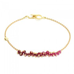 Precious Ruby Nugget Bracelet