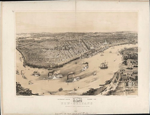 Aerial view of New Orleans, 1851