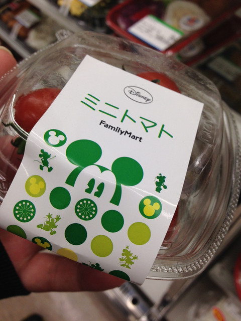 Mickey Mouse FamilyMart Selection: Mini Tomatoes - Okinawa, Japan