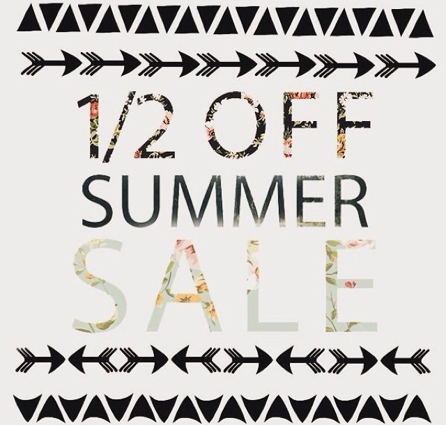 August & Rudy 50% off summer sale
