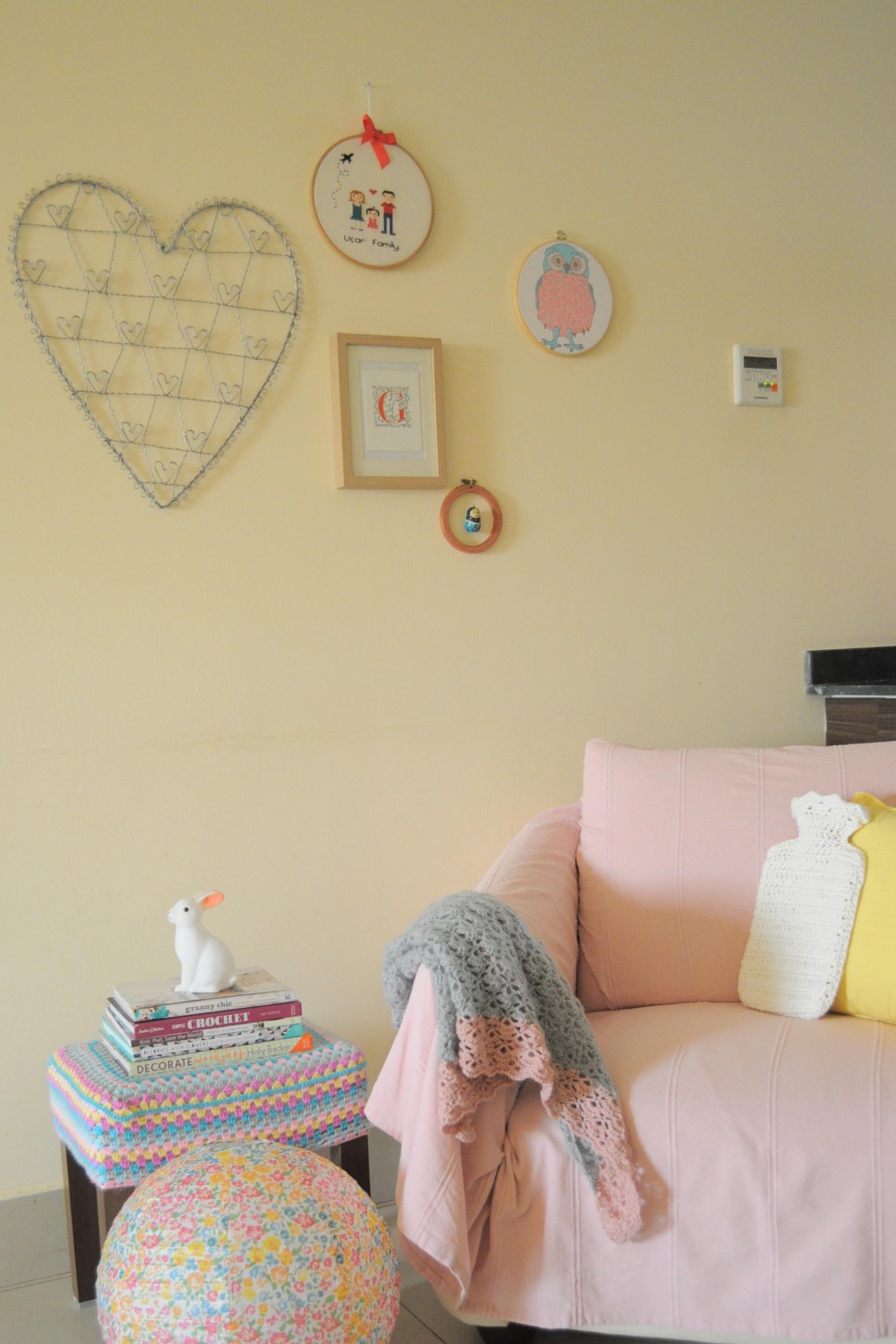vintage peony craft room